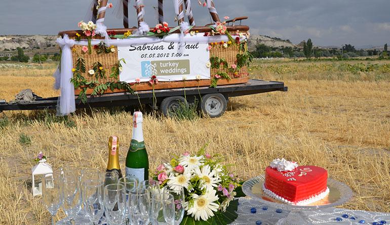 Kapadokya Balon Düğün Setup